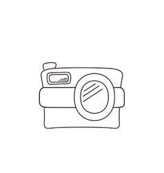 white retro camera isolated icon design vector image