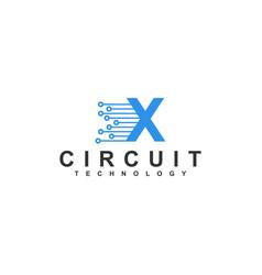 X logo modern design - technology internet vector