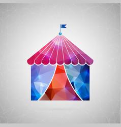 abstract creative concept icon of circus vector image