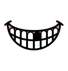 big happy toothy cartoon smile icon vector image vector image