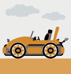 cabriolet car vector image