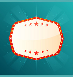 empty retro banner with space for text retro vector image