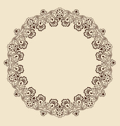 Fine floral round frame decorative element for vector