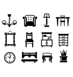 furniture icon set vector image