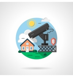 House security system color detailed icon vector image vector image