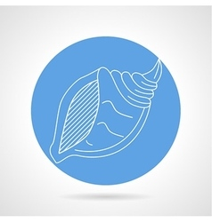 Seashell blue icon vector image vector image