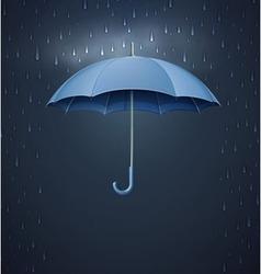 Umbrella with heavy fall rain vector