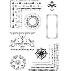 Decorative border frame ornament vector image vector image