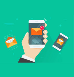 email mobile phone notifications vector image