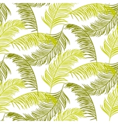 Green palm leaves seamless pattern vector image vector image