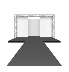 runway podium stage empty catwalk with black vector image