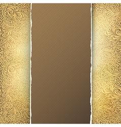 golden menu template vector image vector image