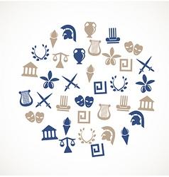 Greece symbols vector image