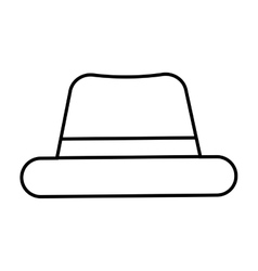 hat hipster style accesory vector image