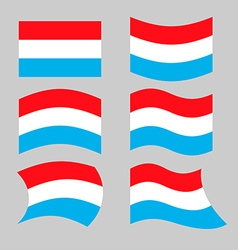 Luxembourg flag Set flags grand duchy various vector image