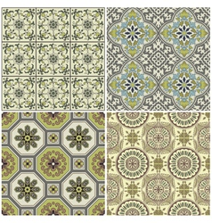 Seamless Vintage Background Collection vector image vector image