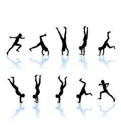 The boy somersault vector image vector image