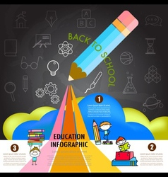 back to school education infographics design vector image