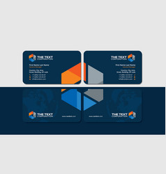 Business cards for oil and gas industry vector