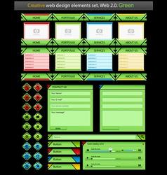 creative web design green vector image vector image
