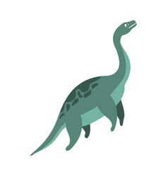 elasmosaurus aquatic dinosaur of jurassic period vector image vector image