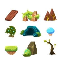 Flash game level design collection of elements vector