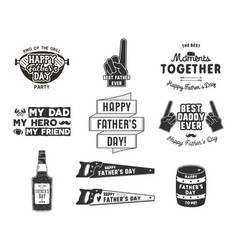 happy father s day badges and design elements vector image vector image
