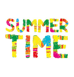 summer time color abstract lettering vector image vector image