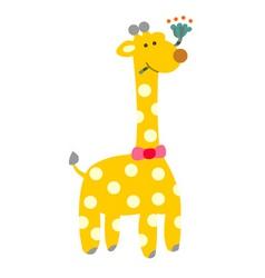 A cute s giraffe cartoon vector
