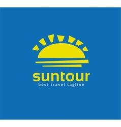 Abstract travel sun logo icon concept Logotype vector image