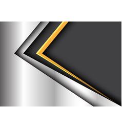 Abstract yellow black arrow metal modern vector