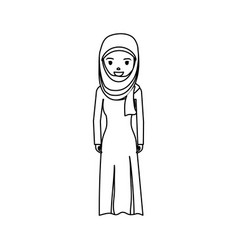arab woman cartoon vector image