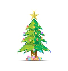 background tree Christmas xmas vector image