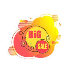 big sale abstract liquid shape emblem vector image