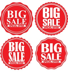 Big sale special offer red label set vector