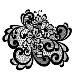 Black lace ornament vector image vector image