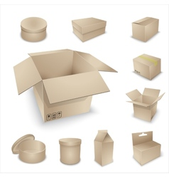 blank packing collection vector image