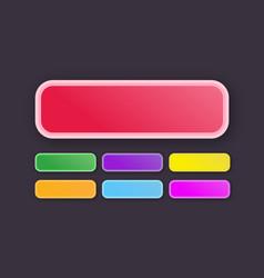 button set modern gradient style vector image
