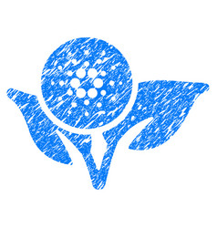 Cardano eco startup icon grunge watermark vector