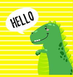 Cartoon cute doodle dinosaur vector