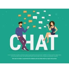 Chat concept vector image