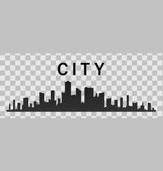 City skyline flat style vector