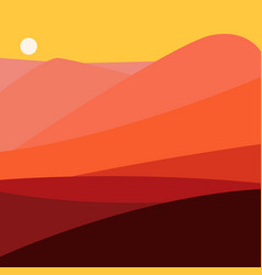 Color landscape with vector