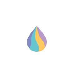 colorful drop logo icon vector image