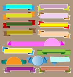 Colorful ribbons and banners vector