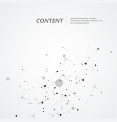 connection science molecule background vector image