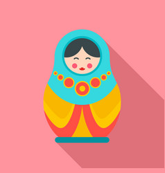 culture nesting doll icon flat style vector image