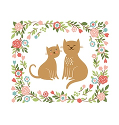 Cute cartoon cats vector
