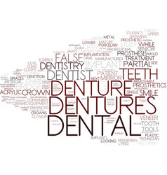 Dentures word cloud concept vector