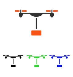 Drone shipment flat icon vector